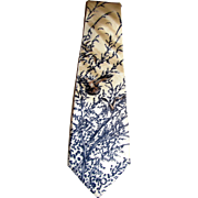Italian Foulard Silk Game Bird Tie by Courchevel