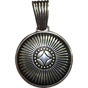 Native American Cast Sterling Large Pendant, 10 1/2 grams