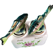Nodding Figural Trout Fish Salt and Pepper Shaker set