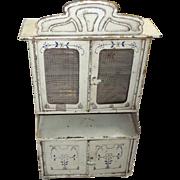 Antique Tin Cupboard, Bing c. 1890