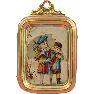Erhard & Söhne:  All Original Miniature Picture with Ormolu Frame