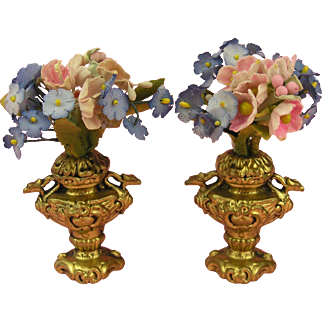 Erhard & Söhne: Wonderful Pair of Dolls' House Vases