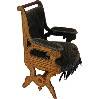 Rarity: Armchair with Reverse Boulle Decoration ca. 1860-80