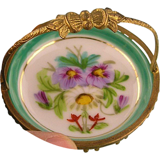 Antique Ormolu Mounted French Miniature Porcelain Bowl - ca. 1900