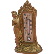 Art Nouveaux Doll's House Thermometer by Gerlay ca. 1910