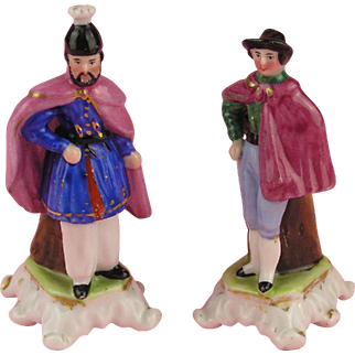 Biedermeier - Wonderful Pair of Miniature Figural Vases