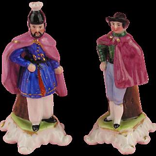 Biedermeier - Wonderful Pair of Miniature Figural Vases