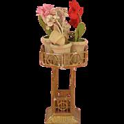 Gerlach: Rare Art Nouveau Octagonal Dolls' House Flower Stand