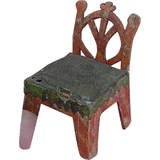 Early 19th. Century Miniature Cardboard Chair - ca. 1820