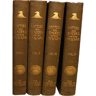 Four volume set---Battles and Leaders of the Civil War----First edition in original bindings.