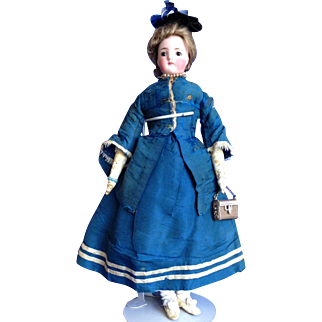 "13 1/2"" German Fashion Doll Probably Kling"