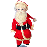 """9"""" German Bisque SANTA. Composition fully jointed body."""