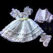 Madame Alexander CYNTHIA dress, coat, underwear, shoes, socks. Tagged