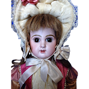 "17"" CLOSED MOUTH Jumeau. Wonderful Bisque. Beautiful Custom Costume."