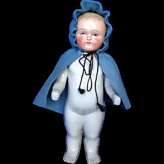 "11"" Sculptural Frozen Charlie in Wool Cape"