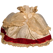 """Small 1950s doll gown suitable for 8"""" doll"""