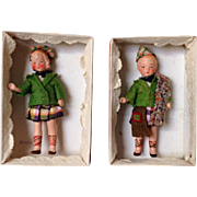German All Bisque tied in Original Box.  Represents Scotland