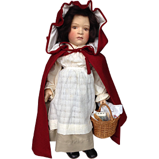 R. John Wright Little Red Riding Hood Cloth Doll in Original Box Limited Ed.