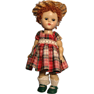 Vogue Ginny with caracul wig--PLW--in tagged dress, original shoes & socks