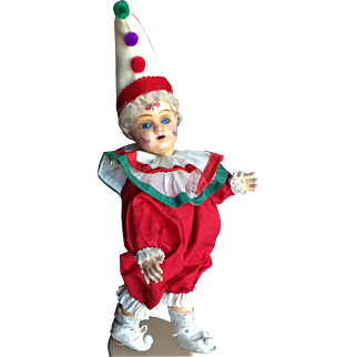 """13"""" French Eden Clown.  Fantastic character! So Unusual."""
