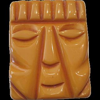 Bakelite King Face Pin