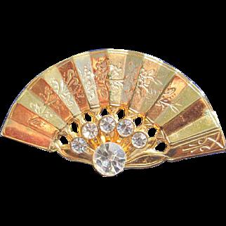 Glistening Asian Fan Pin