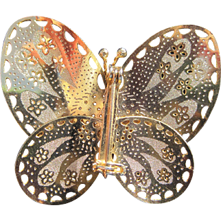 Shiny Lightweight Butterfly Pin