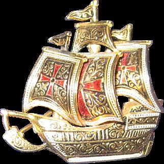 Damascene Spanish Galleon