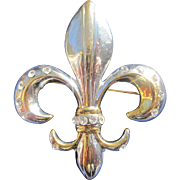 Fleur de Lis Bourbon French Brooch & Pin
