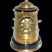Brass Nautical Ship's Wheel Cigarette Dispenser C 1920 - Red Tag Sale Item