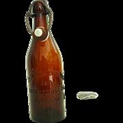 St. Helena Bottling and Cold Storage Co Dark Brown Beer Bottle