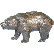 Bronze Souvenir Bear Figure Advertising Open Pit Mine Minnesota