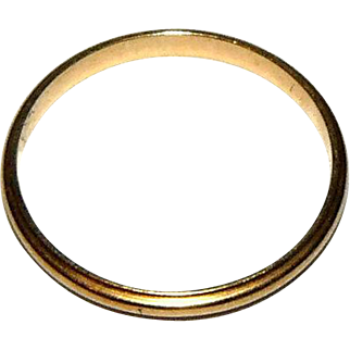 1920s Wedding Band 14K Yellow Gold