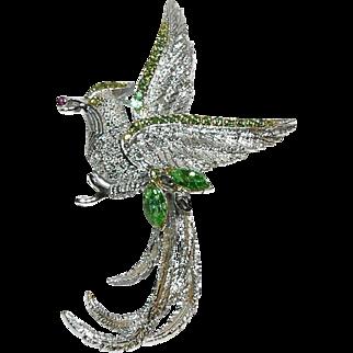 Bird of Paradise Rhinestone Brooch by 11 W. 30th Street