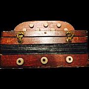Rare Antique Miniature Dominoes Set in Accordion Box