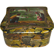 Antique Celluloid Box With Family