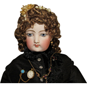 Custom Made French Fashion Mohair Wig With Wax Flowers