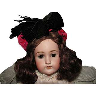 Wonderful Velvet and Silk Hat for French or German Doll