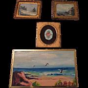 Four Vintage Dollhouse Original Pictures