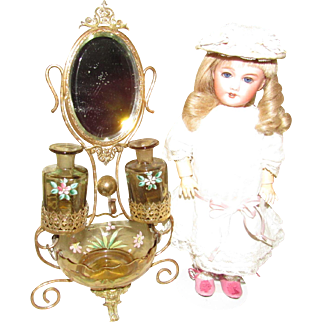 Palais Royale Pocket Watch and Perfume Holder Wonderful Accessory for Antique Dolls