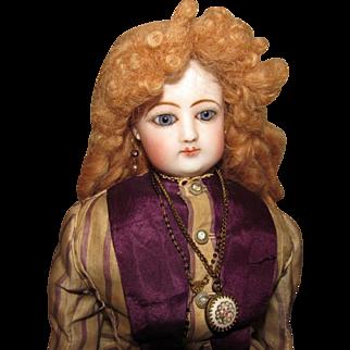 Elaborate English Mohair French Fashion Wig
