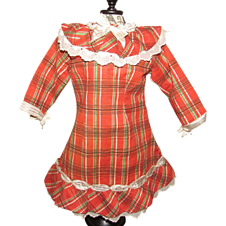 """Wonderful 15"""" Length Doll Dress Perfect for French or German Doll"""