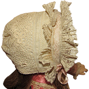 Fabulous Antique Doll Bonnet for French or German Doll