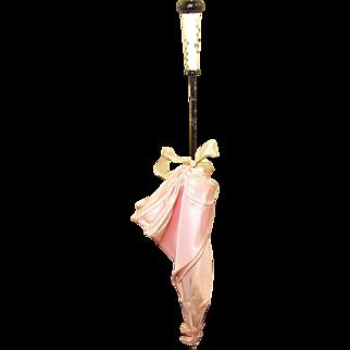 Vintage Taffeta Parasol For Display With Antique or Vintage Doll