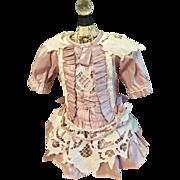 Gorgeous Dress for French Doll Jumeau Steiner Bru