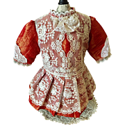 Lovely Taffeta and Lace Dress for French or German Doll