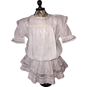 Beautiful Antique White Dress for Antique German or French Doll