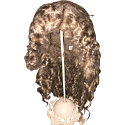 Beautiful Light Brown Mohair Doll Wig with Extensions