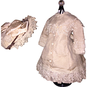 Fabulous Dress and Bonnet for French Bebe Doll