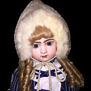 Wonderful White Rabbit Fur Doll Bonnet for French or German Doll